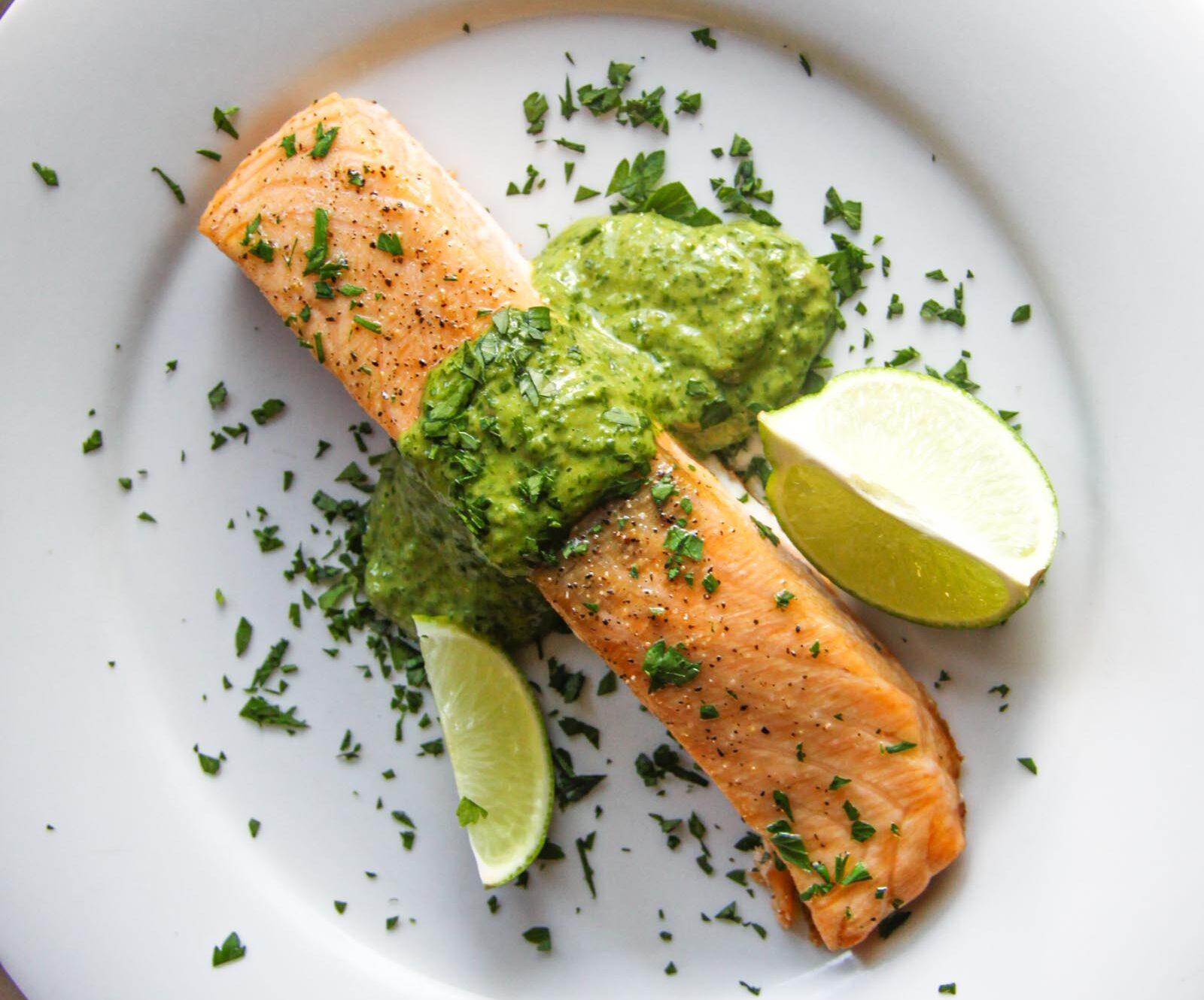 salsa verde with salmon