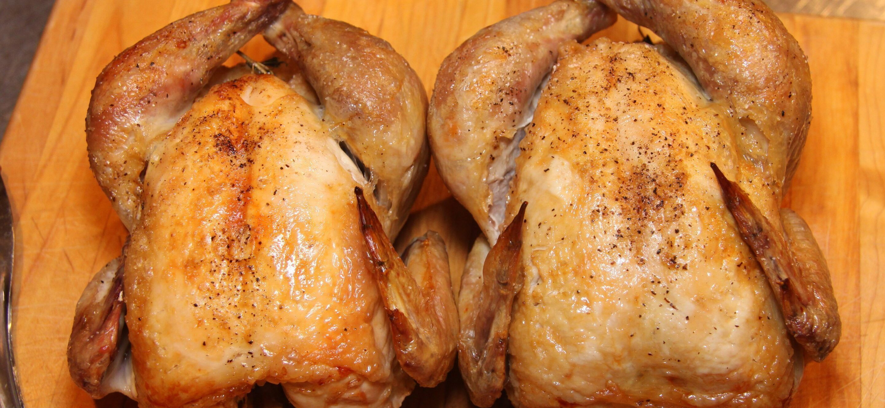 Skillet oven roasted cornish hen