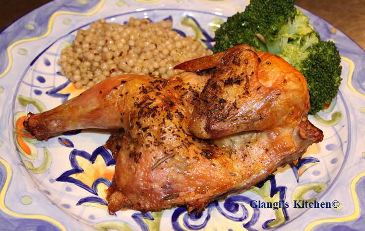 cornish game hen with couscous