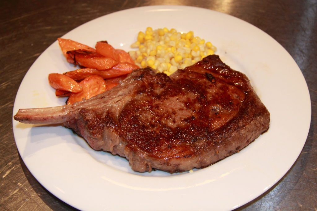 Bone in rib eye steak