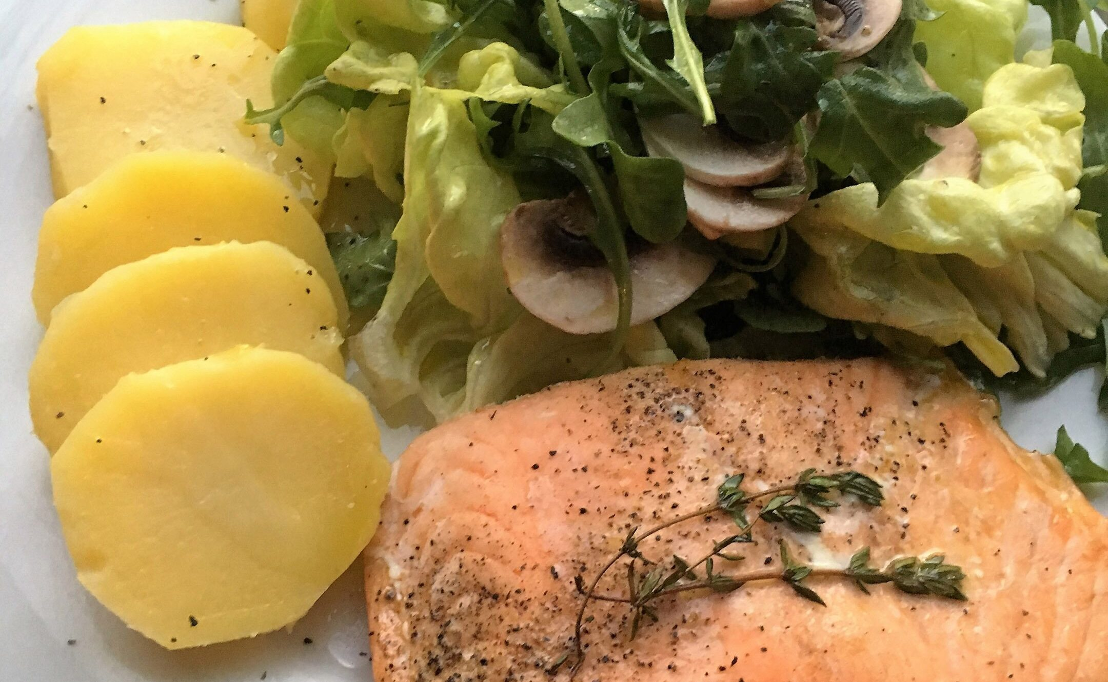 Salad of Salmon and Potatoes