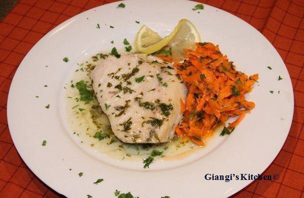 swordfish with carrot salad