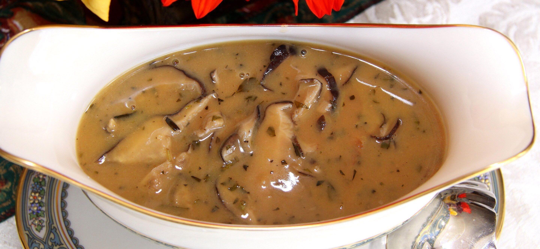 Shiitake musrhooms gravy