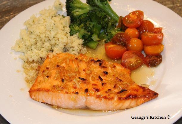 salmon with spicy maple sauce