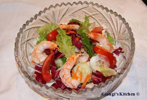 prawns summer salad