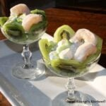 prawns cocktail with kiwis