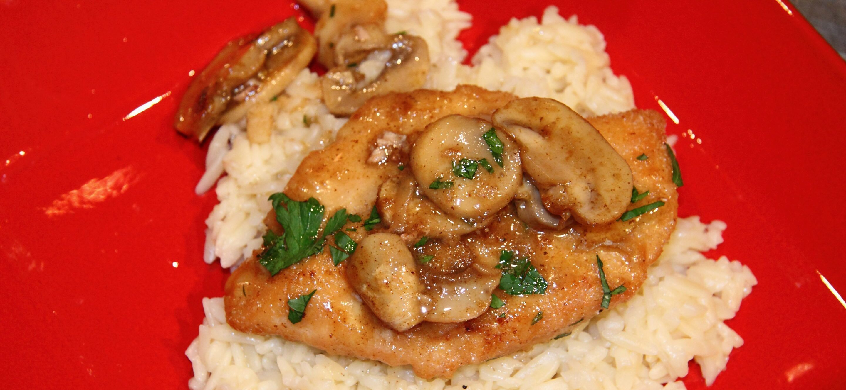 garlic chicken with mushrooms