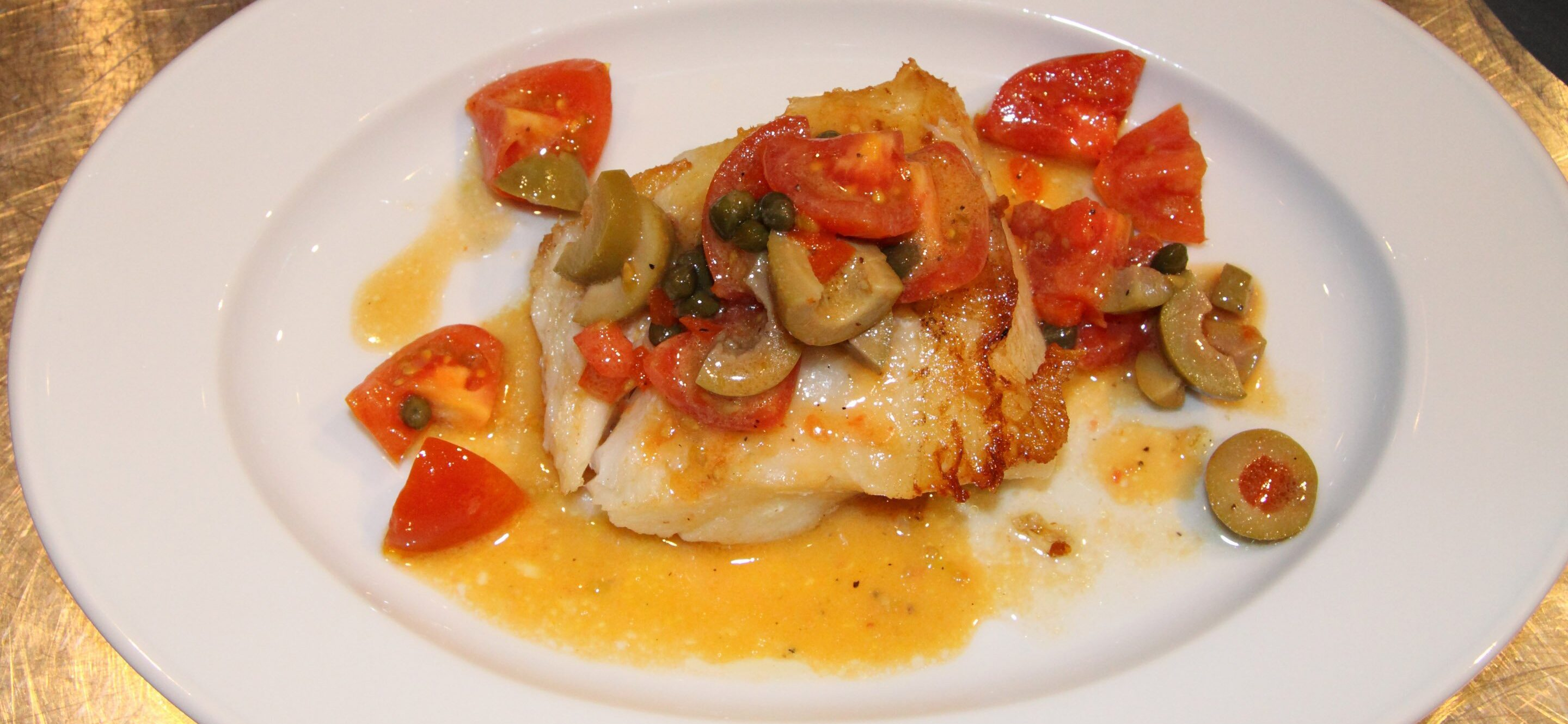 chilean sea bass with tomato relish