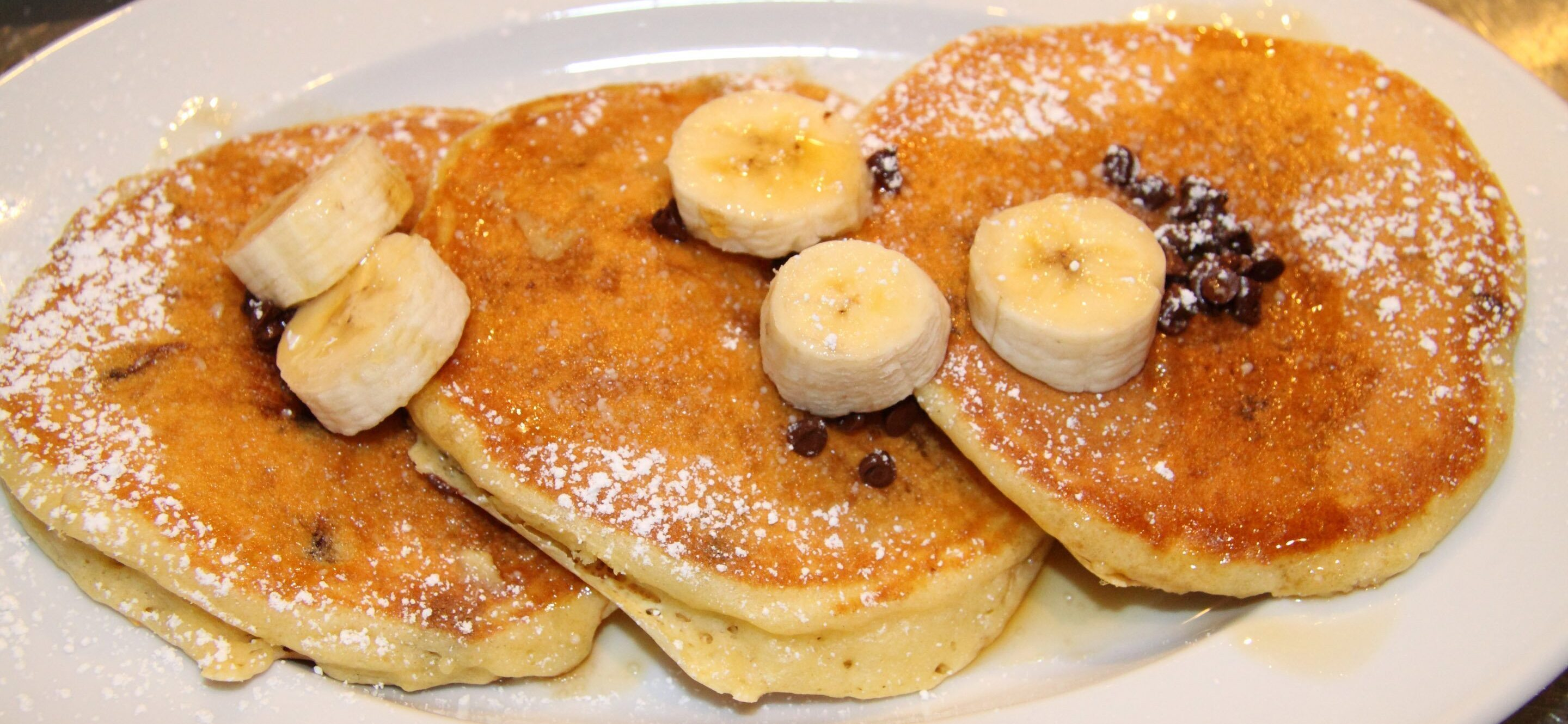 chocolate chips banana pancakes