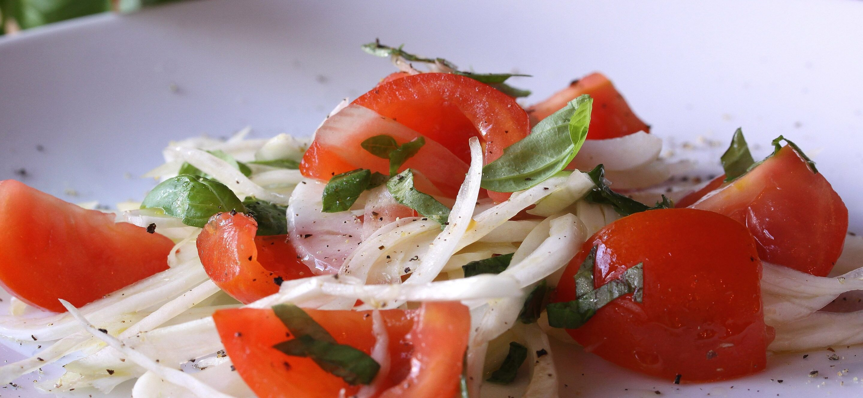fennel tomatoes basil salad