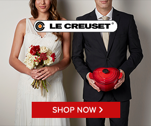 Le Creuset Wedding registry