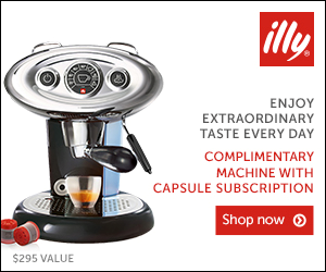 FREE Expresso Machine + Free Shipping ($295 value) with subscription . Great Coffee! Great way to start your day.