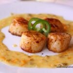 jalapeno orange glazed scallops