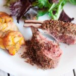 pepper crusted rack of lamb with horseradish cfeme fraiche