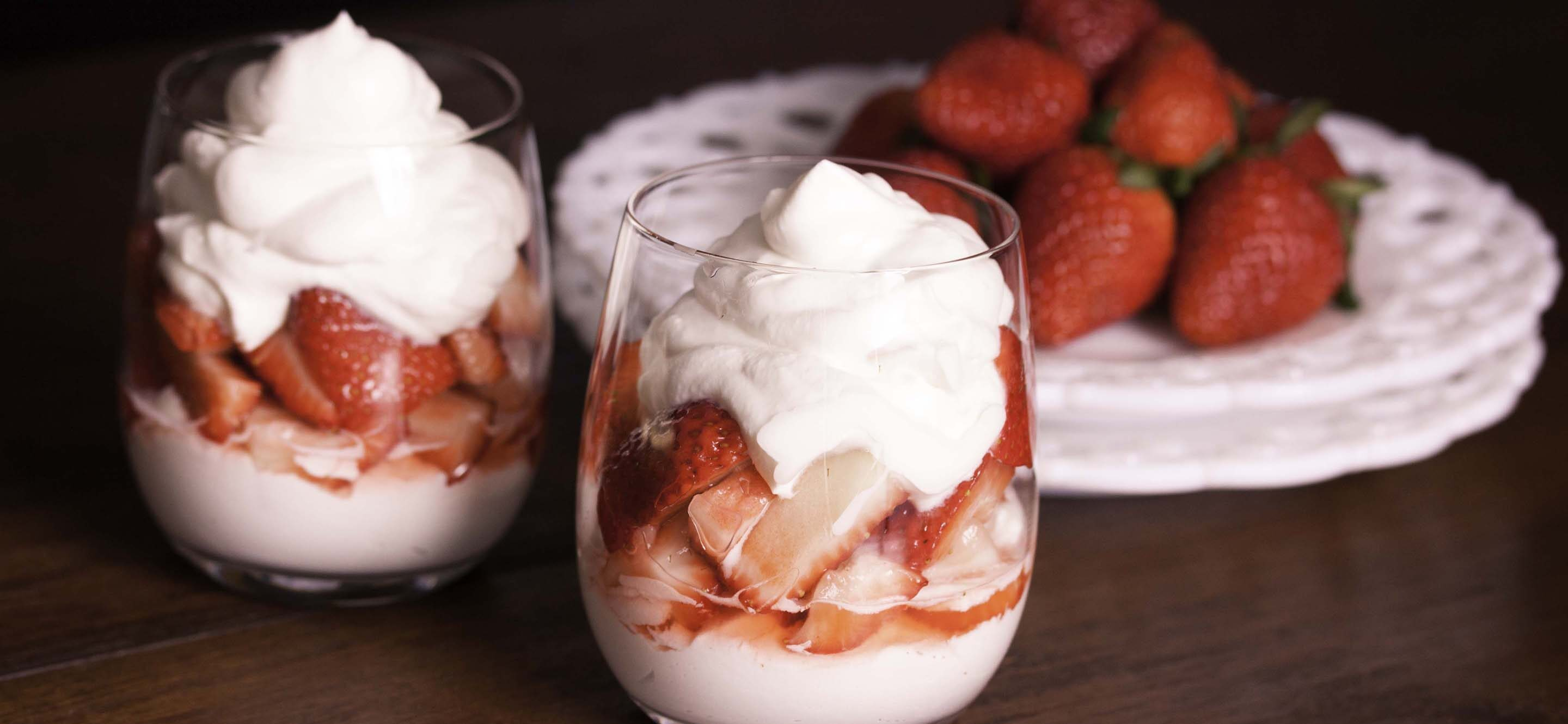 strawberries chantilly