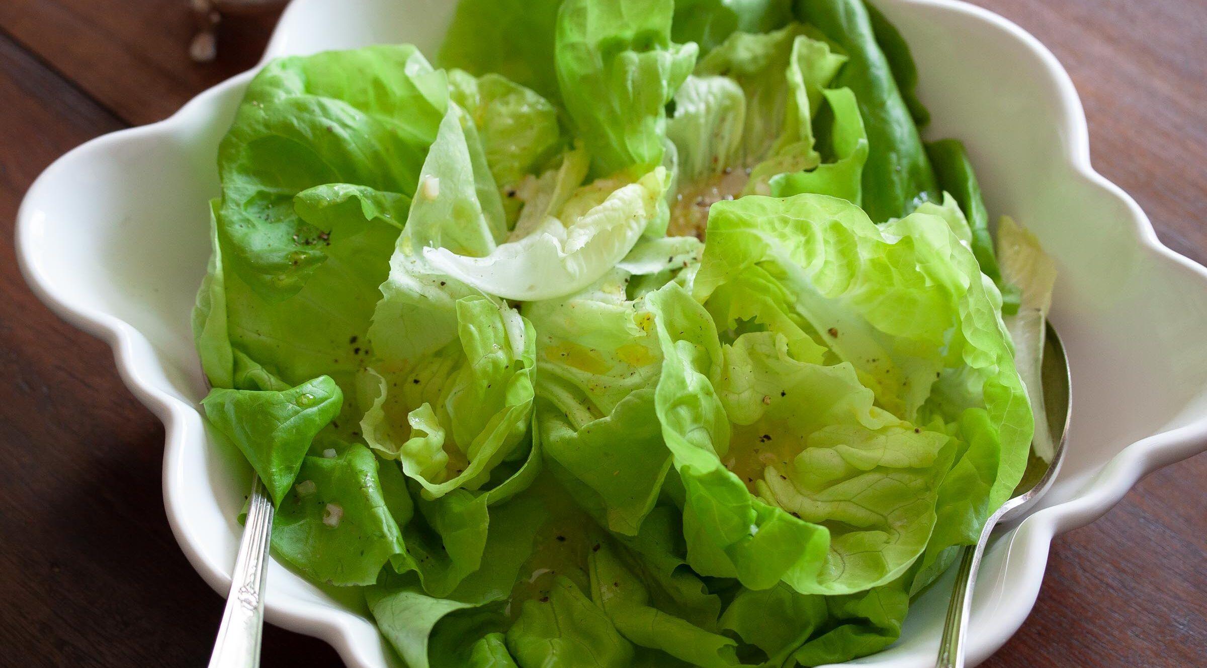 Butter Lettuce With Shallots Vinaigrette
