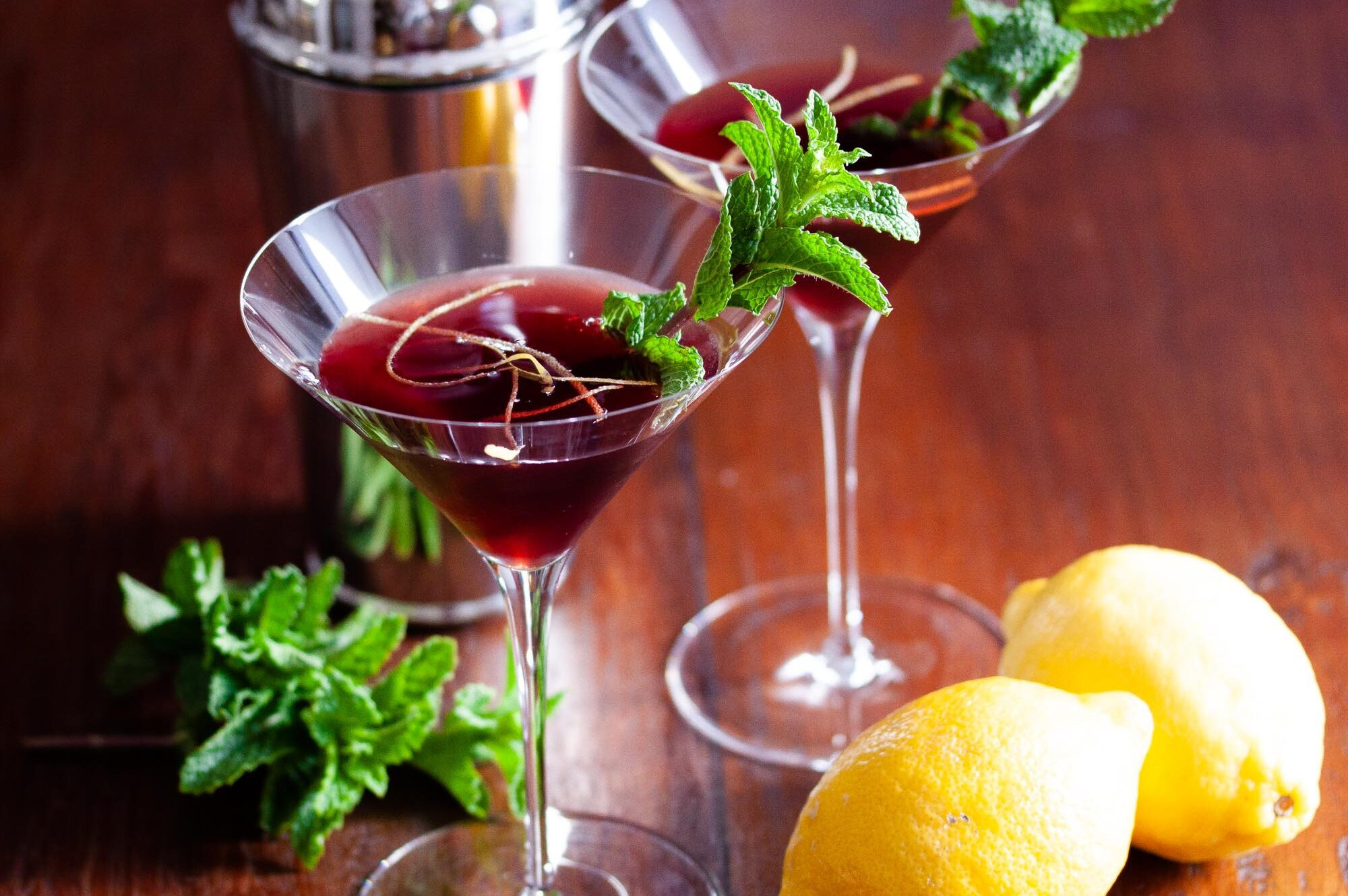 Pomegranate Martini.
