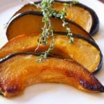 Green acorn squash with honey vinaigrette