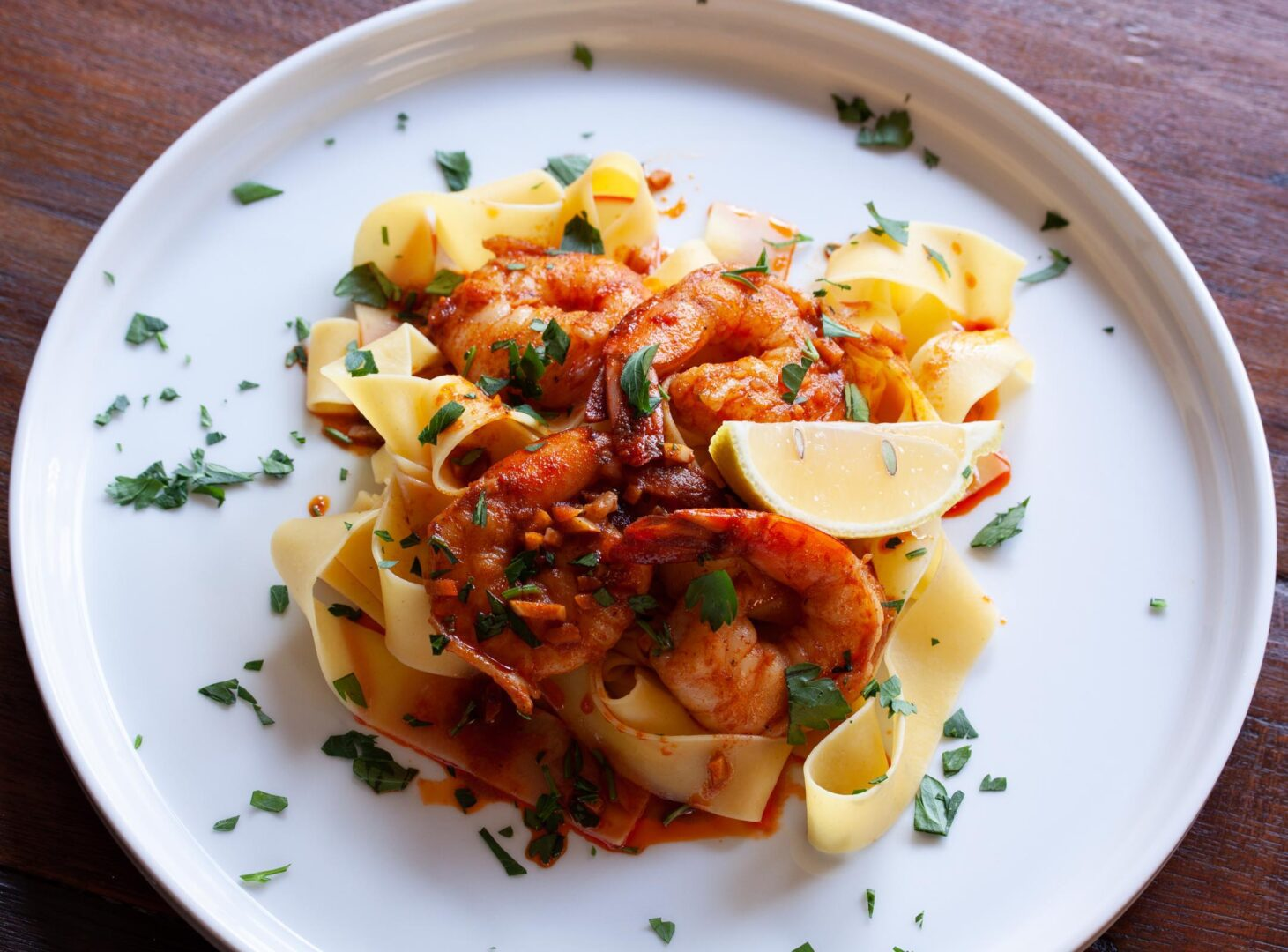 Pappardelle with Spanish Spiced Shrimps