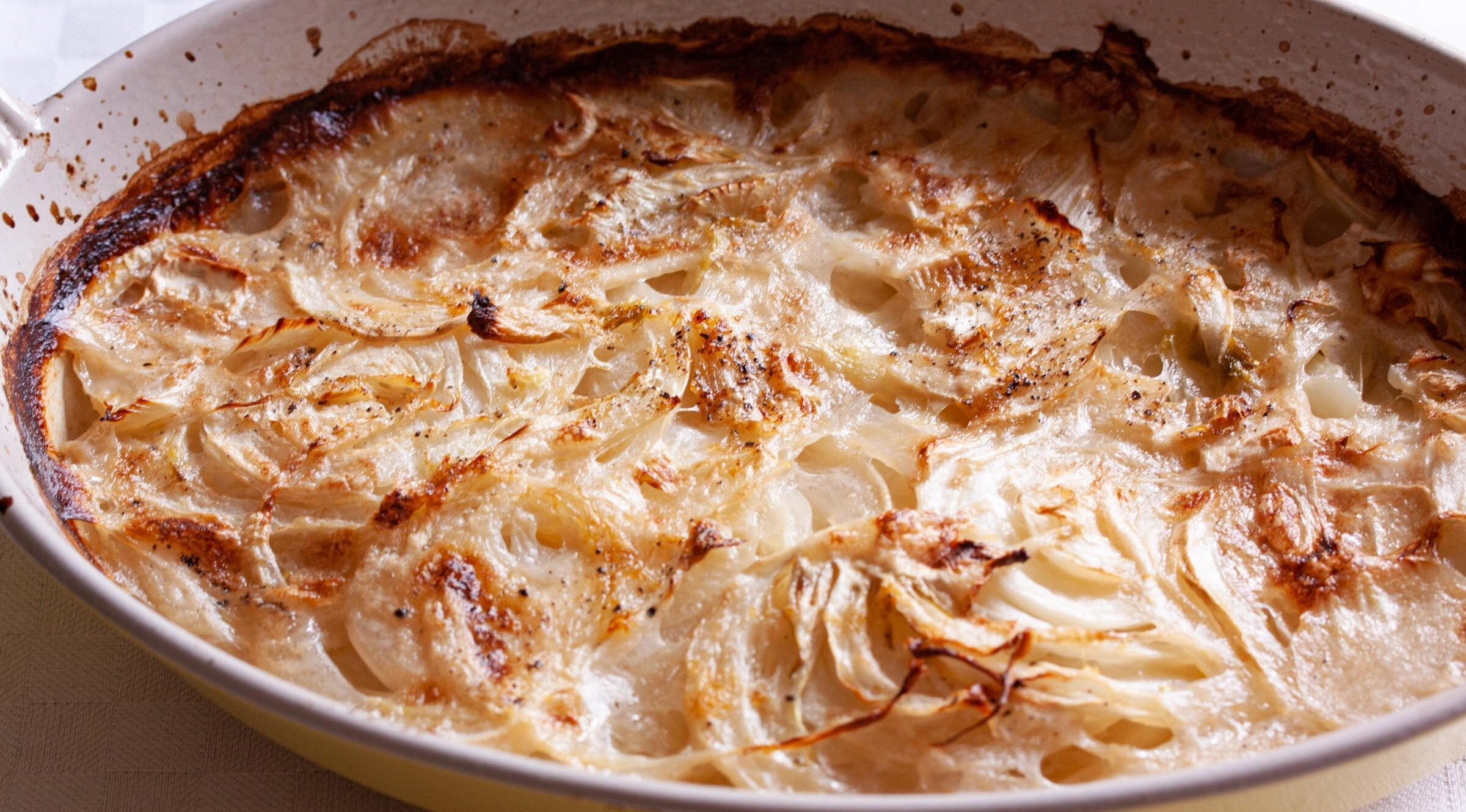 fennel gratin with coconut milk