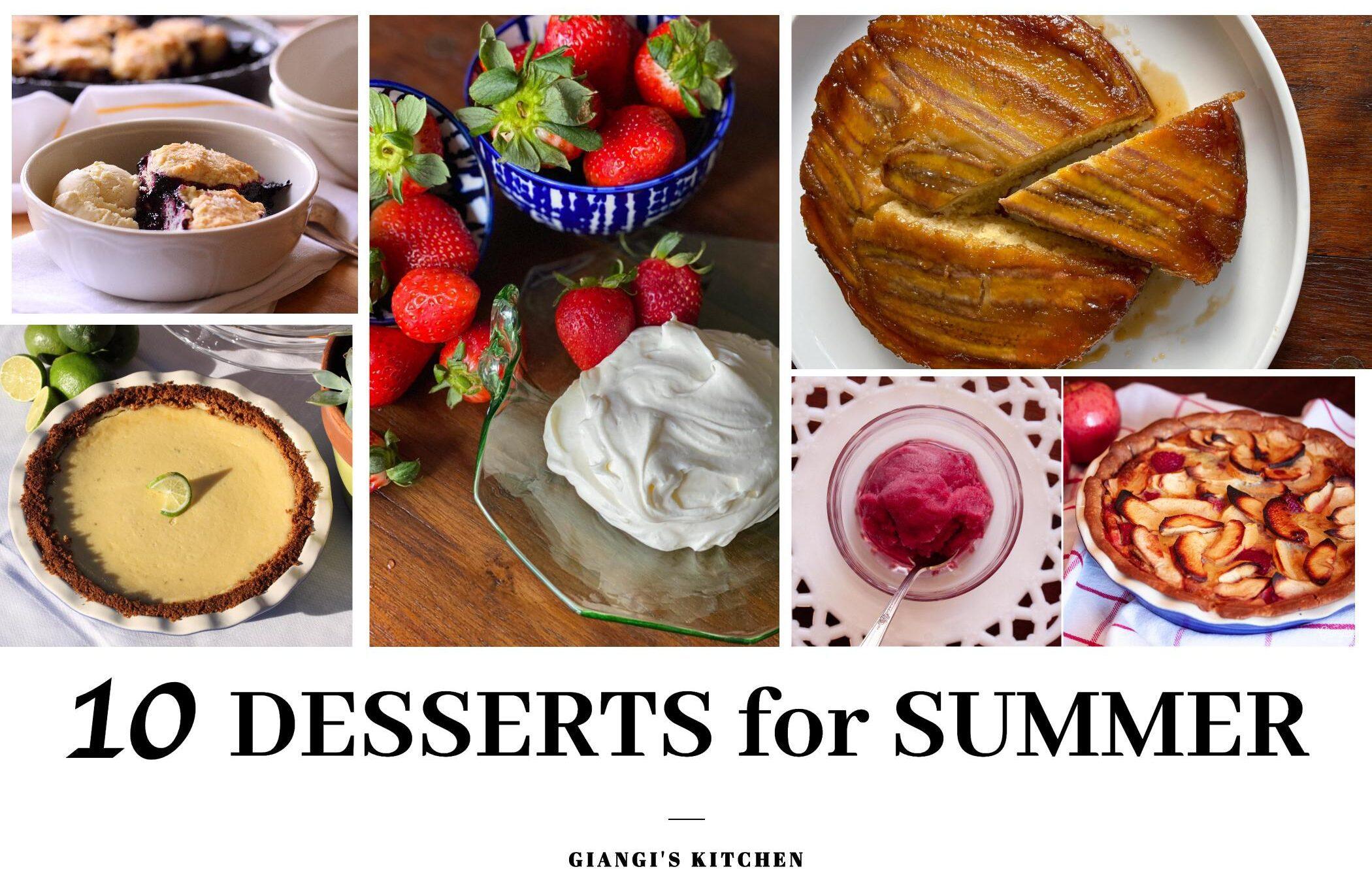10 desserts for summer