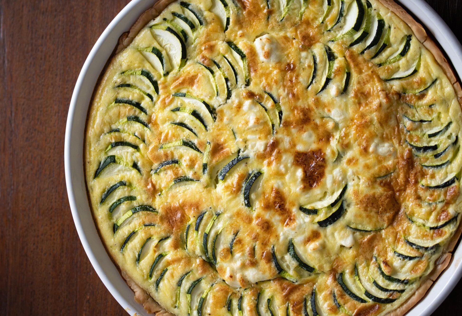 zucchini feta cheese quiche