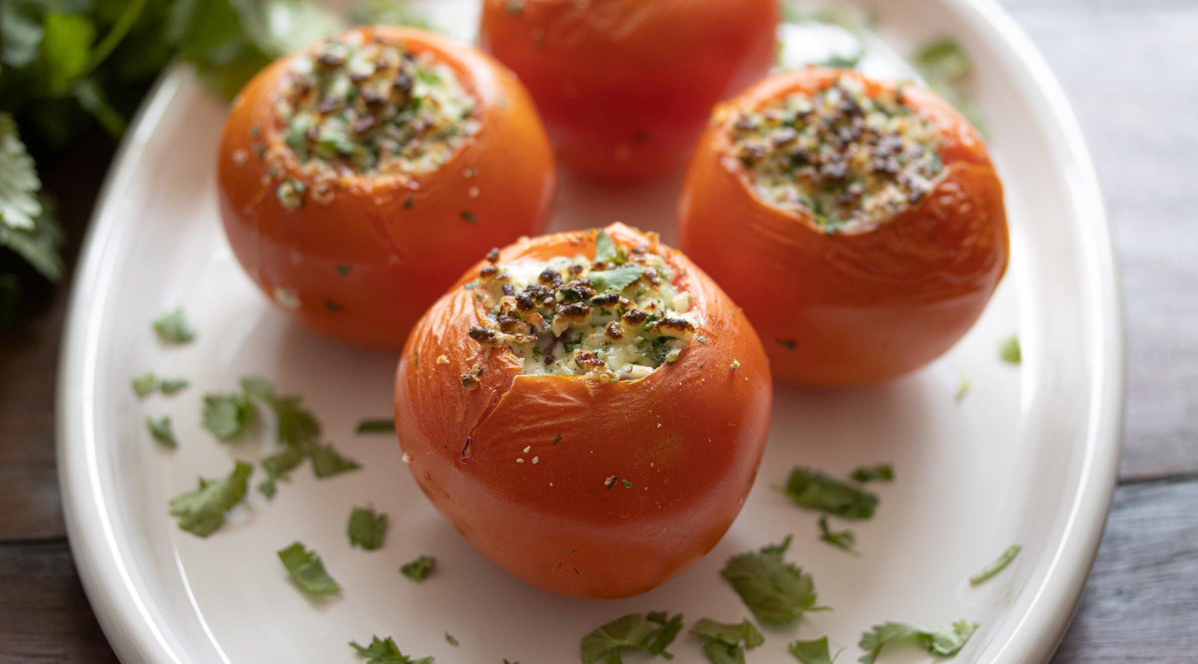 Queso Fresco stuffed tomatoes