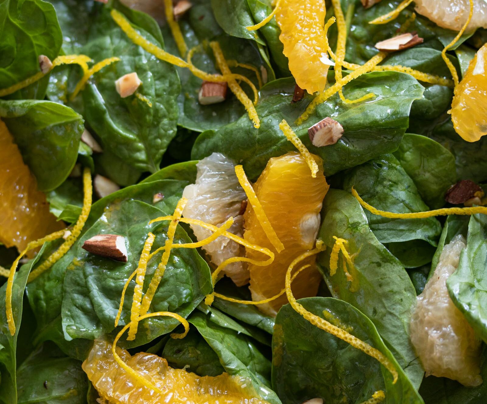 spinach salad with citrus