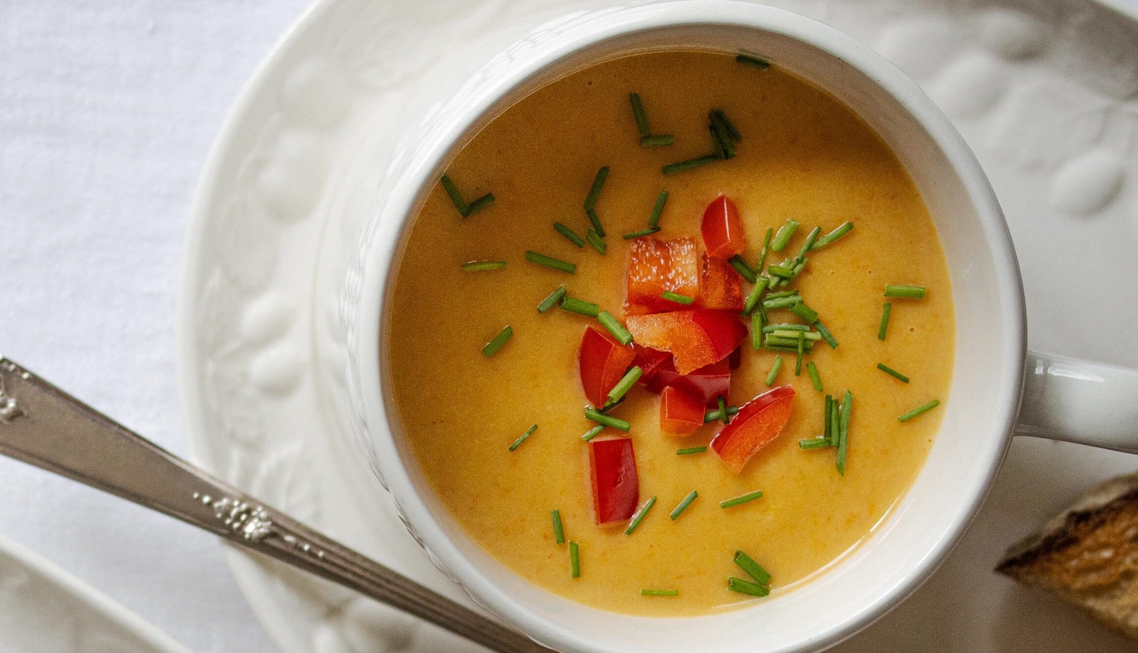 Roasted bell peppers cream soup