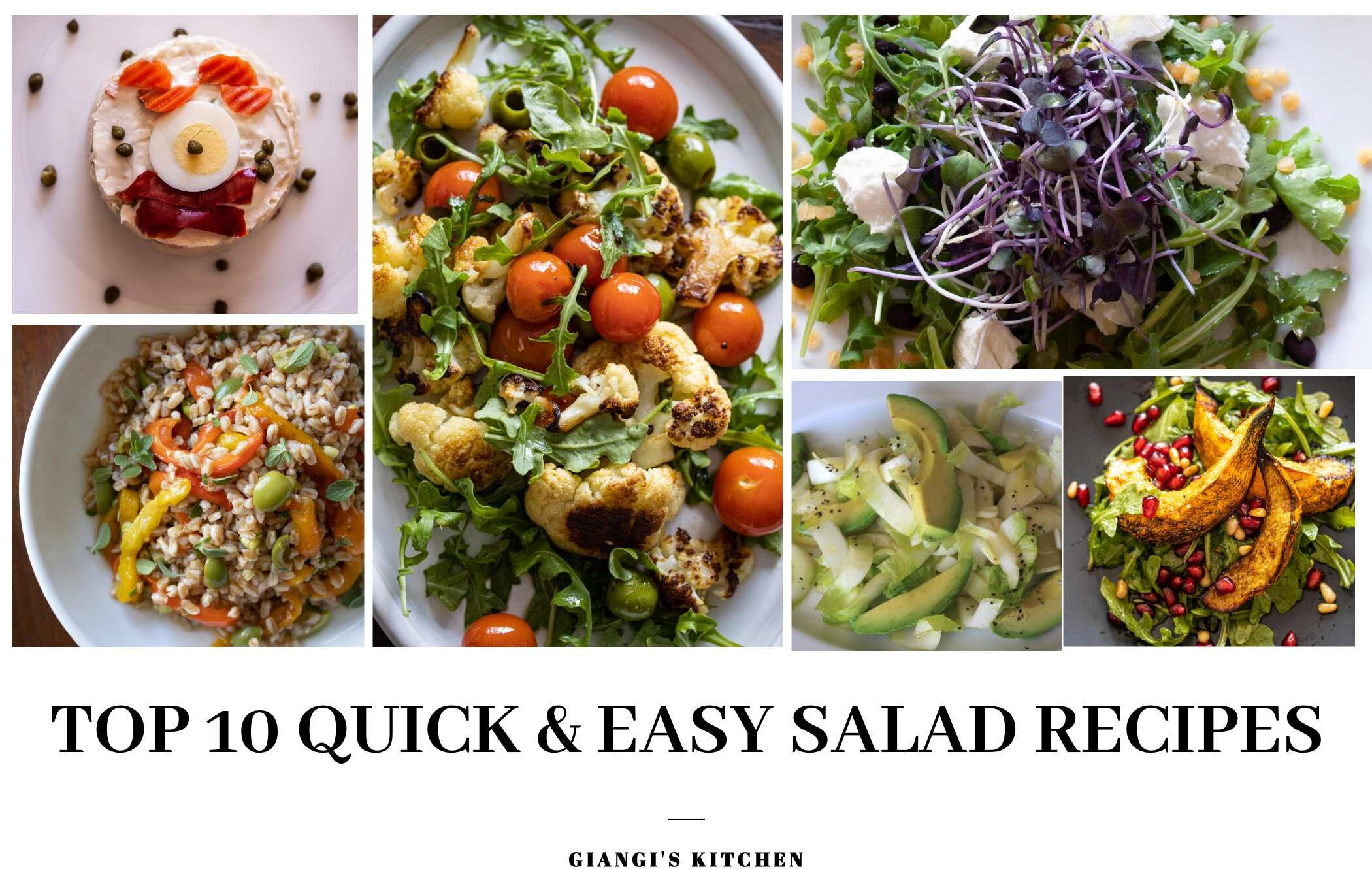 top 10 quick & easy salad recipes