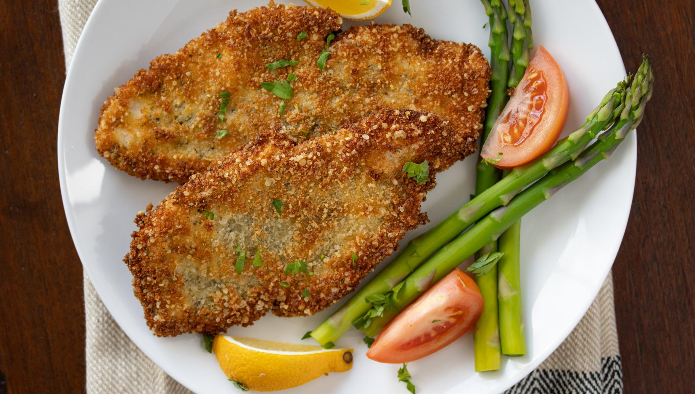 parmesan, panko crusted chicken cutlets