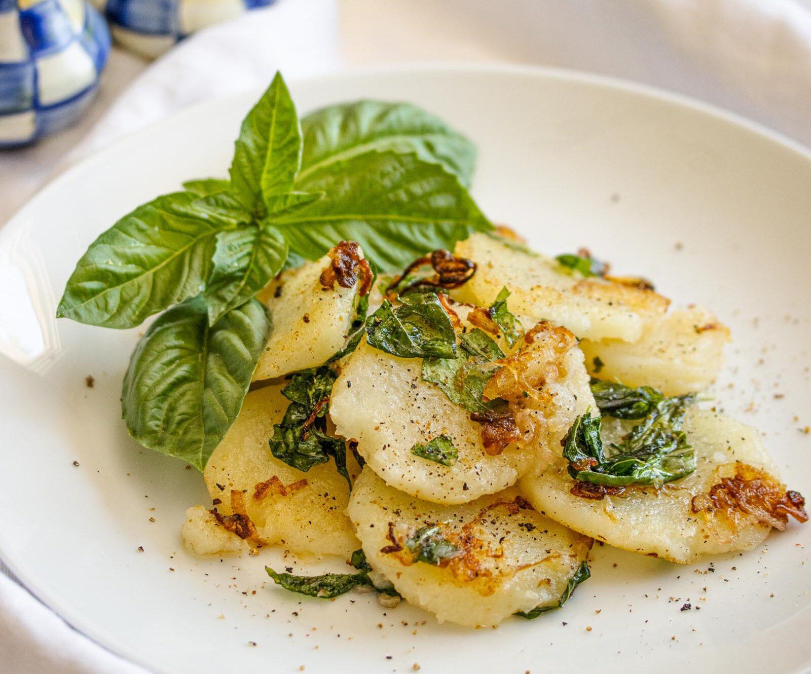 potatoes with basil