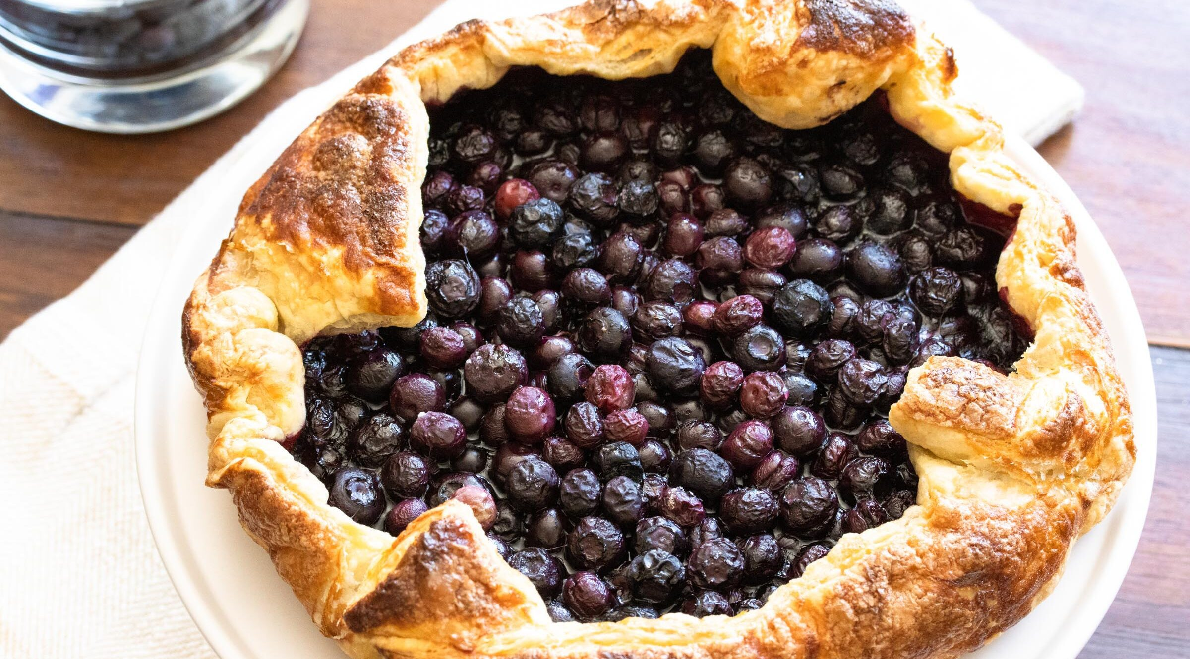 Puff Pastry Blueberry Galette