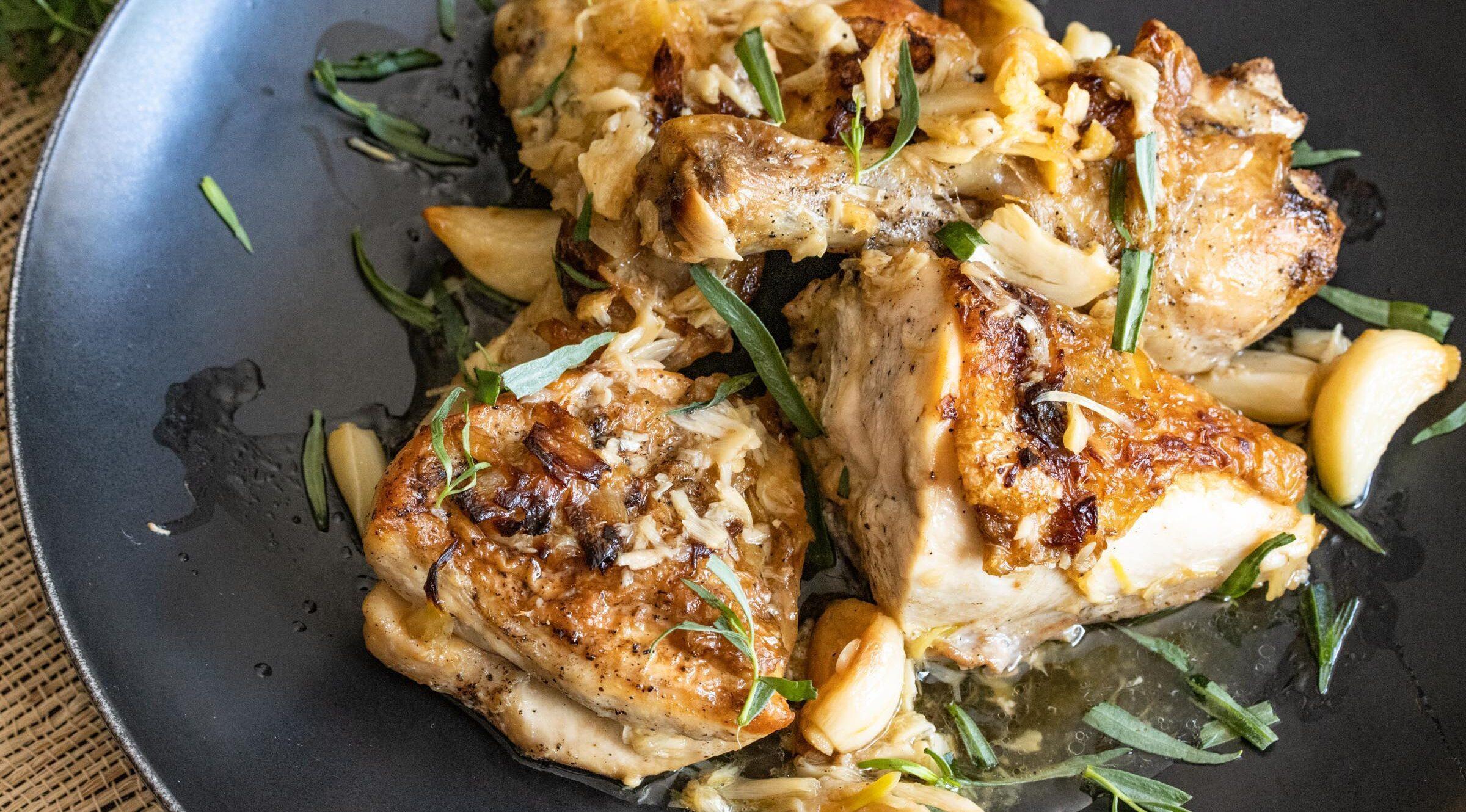 40 clovers garlic chicken