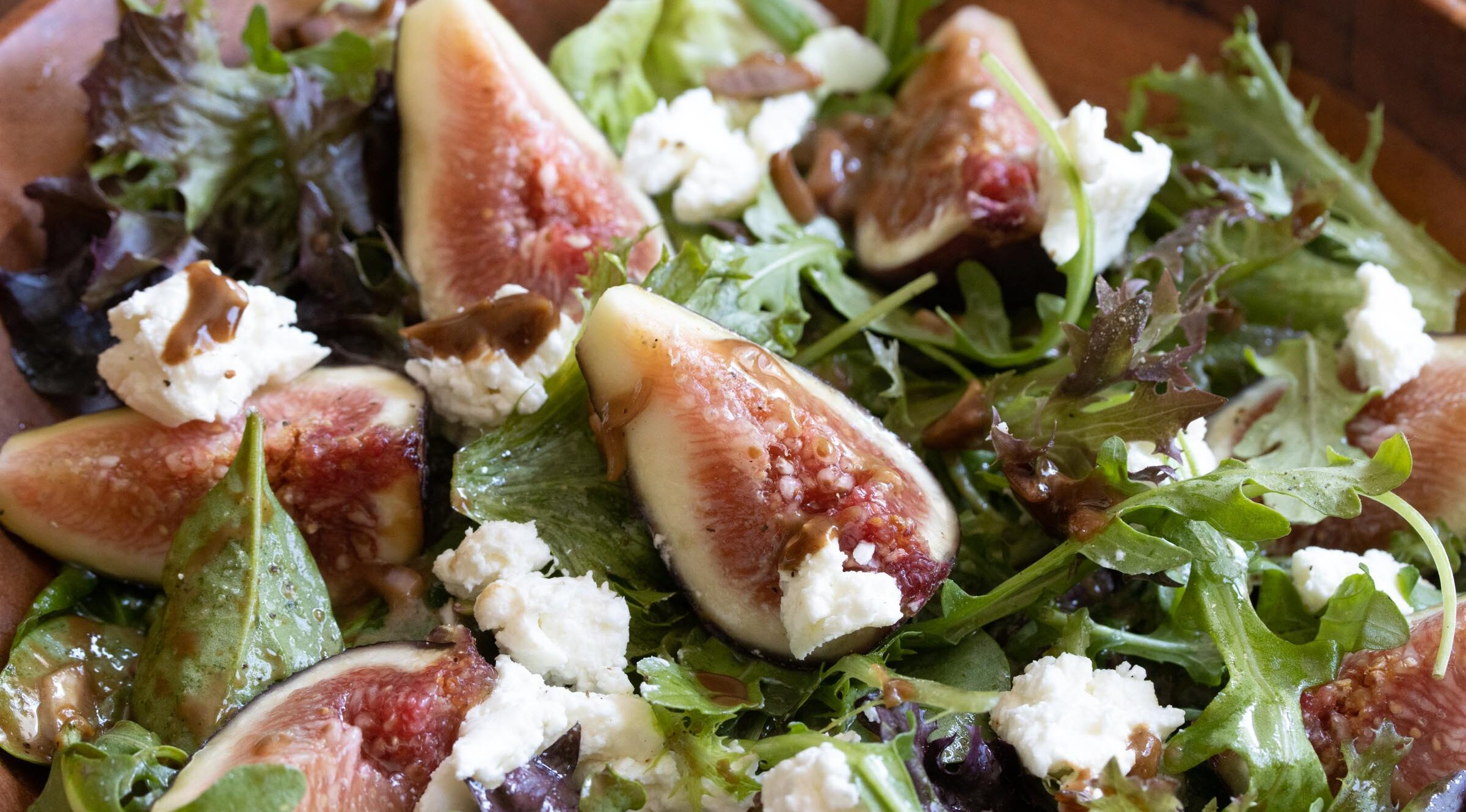 fig with goat cheese salad
